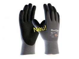 BIG-ATG-Nylon-Strick-Arbeits-Montage-Handschuhe, MaxiFlex Endurance AD-APT, grau/schwarz