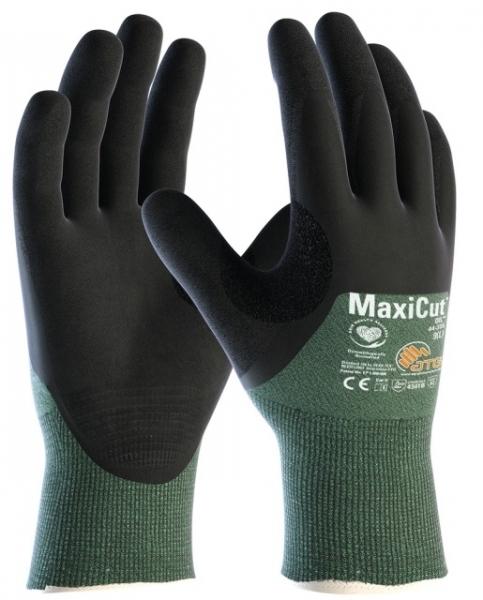 BIG-ATG-Schnittschutz-Strickhandschuhe, MaxiCut Oil, grün/schwarz