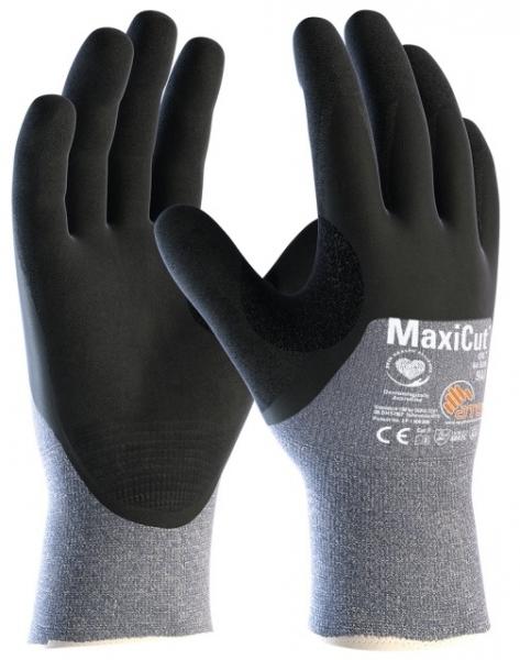 BIG-ATG-Schnittschutz-Strickhandschuhe, MaxiCut Oil, schwarz/blau
