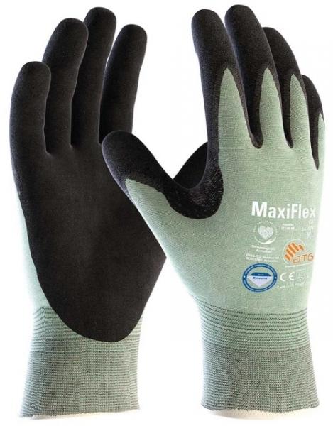 BIG-ATG-Schnittschutz-Strick-Arbeits-Handschuhe, MaxiFlex Cut, schwarz/hellgrün