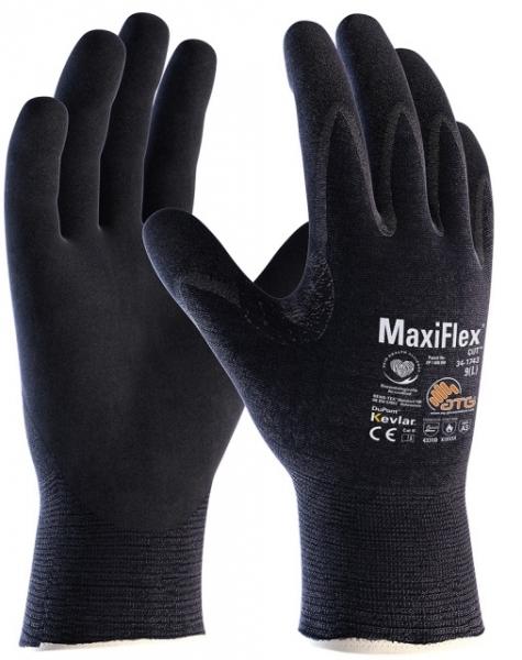 BIG-ATG-Schnittschutz-Strickhandschuhe, MaxiFlex Cut, schwarz