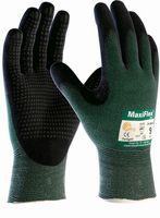 BIG-ATG-Schnittschutz-Strick-Arbeits-Handschuhe, MaxiFlex Cut, grün/schwarz