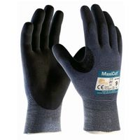 BIG-ATG-Schnittschutz-Strick-Arbeits-Handschuhe, MaxiCut Ultra, blau/schwarz
