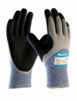 BIG-ATG-Schnittschutz-Strick-Arbeits-Handschuhe, MaxiCut Oil, hellblau/schwarz