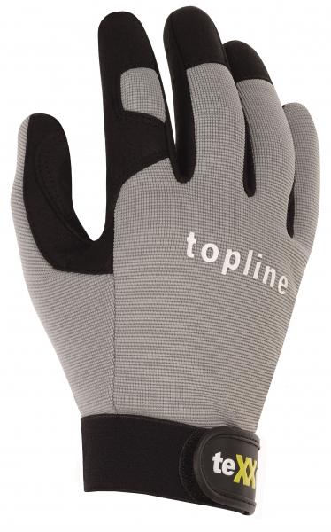BIG-TEXXOR-Kunst-Leder-Arbeits-Handschuhe, Fresno, grau/schwarz