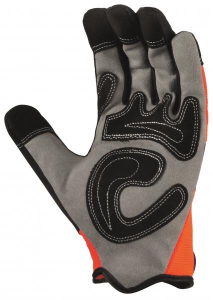 BIG-TEXXOR-Kunst-Leder-Arbeits-Handschuhe, Irvine, orange/grau