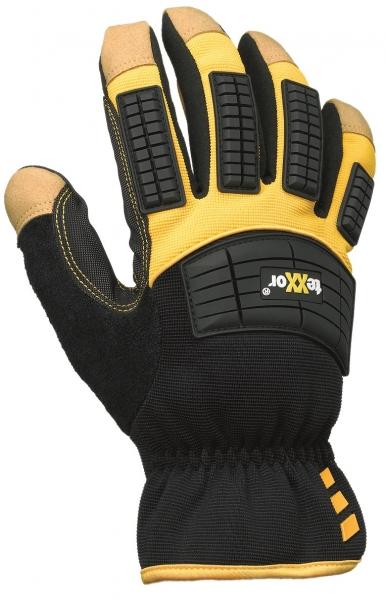 BIG-TEXXOR-Hirsch-Leder-Arbeits-Handschuhe, Ocala, gelb/schwarz