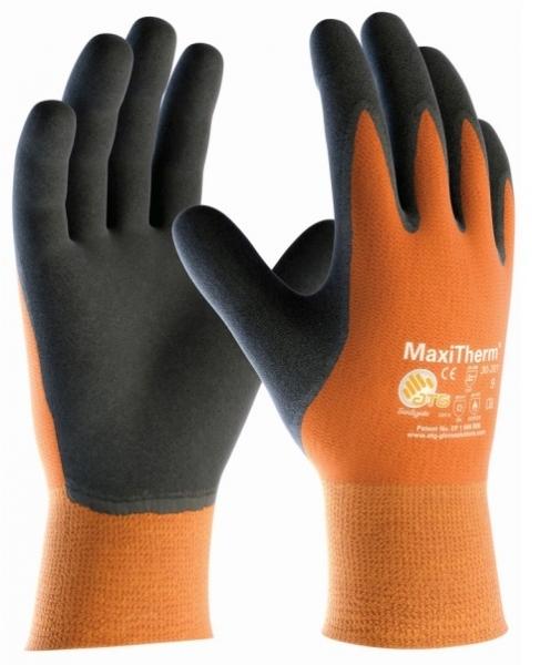 BIG-ATG-Kälteschutz--Arbeits-Handschuhe, MaxiTherm, orange/schwarz