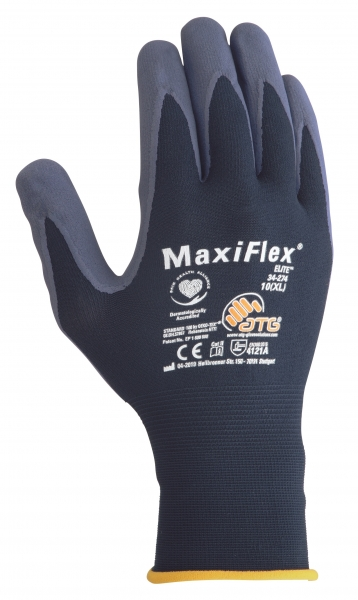 BIG-ATG-Nylon-Strick-Arbeits-Montage-Handschuhe, MaxiFlex Elite, als SB-Verpackung, blau