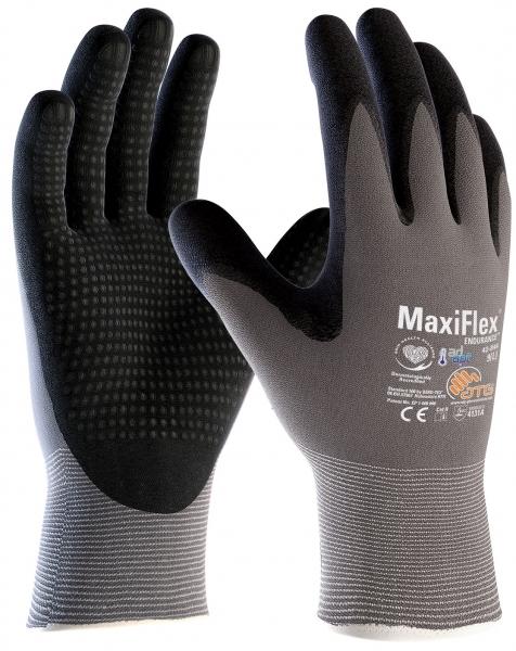 BIG-ATG-Nylon-Strick-Arbeits-Montage-Handschuhe, MaxiFlex Endurance AD-APT, als SB-Verpackung, grau/schwarz