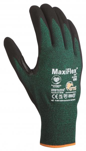 BIG-ATG-Schnittschutz-Strick-Arbeits-Handschuhe, MaxiFlex Cut, als SB-Verpackung, grün/schwarz