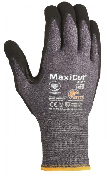BIG-ATG-Schnittschutz-Strick-Arbeits-Handschuhe, MaxiCut Ultra, als SB-Verpackung, blau/schwarz