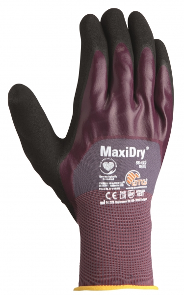 BIG-ATG-Nitril-Arbeits-Handschuhe, MaxiDry, als SB-Verpackung, grau/lila/schwarz