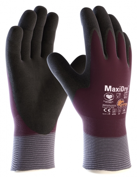 BIG-ATG-Nitril-Arbeits-Handschuhe, MaxiDry-Zero, als SB-Verpackung, violett/schwarz