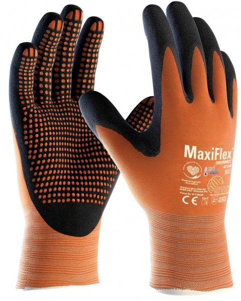 BIG-ATG-Nylon-Strickhandschuhe, MaxiFlex Endurance AD-APT, als SB-Verpackung, orange/schwarz