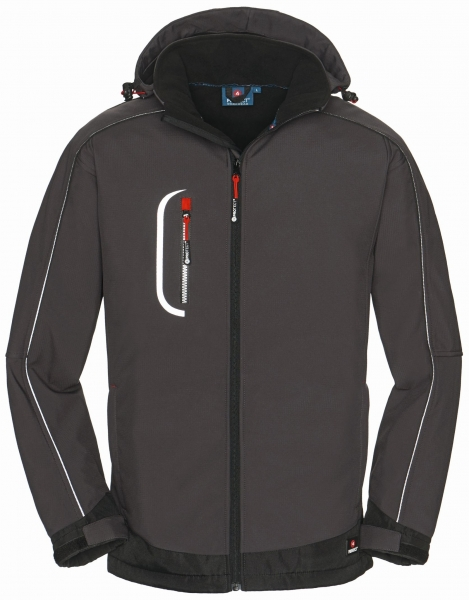 BIG-4-Protect-Softshell-Arbeits-Berufs-Jacke, Montana, grau/schwarz