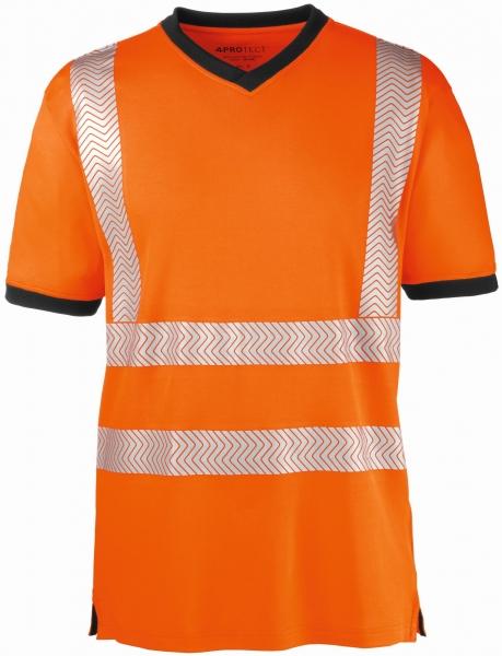 BIG-4-Protect-Warnschutz-T-Shirt, Miami, leuchtorange/grau