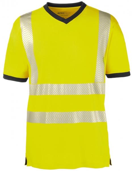 BIG-4-Protect-Warnschutz-T-Shirt, Miami, leuchtgelb/grau