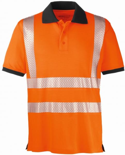 BIG-4-Protect-Warnschutz-Polo-Shirt, Orlando, leuchtorange/grau