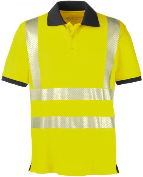 BIG-4-Protect-Warnschutz-Polo-Shirt, Orlando, leuchtgelb/grau
