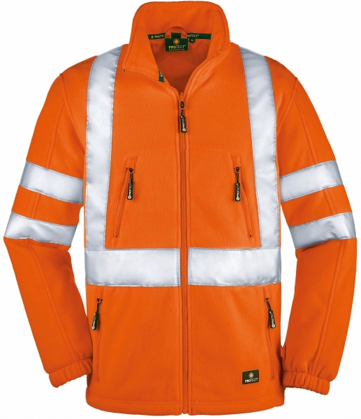 BIG-4-Protect-Warn-Schutz-Fleece-Jacke, Seattle, leuchtorange