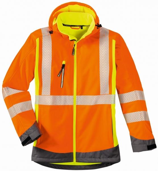 BIG-4-Protect-Warn-Schutz-Softshell-Jacke, Houston, leuchtorange/leuchtgelb/grau