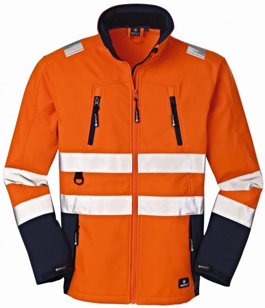 BIG-4-Protect-Warn-Wetter-Schutz-Softshell-Jacke, Pittsburgh, leuchtorange/navy