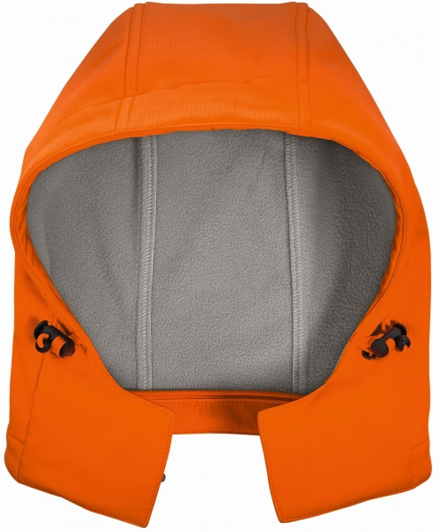 BIG-4-Protect-Warnschutz-Softshell-Kapuze, leuchtorange