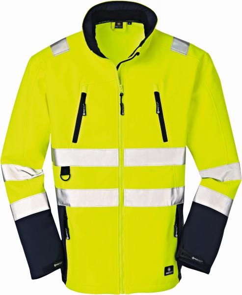 BIG-4-Protect-Warn-Wetter-Schutz-Softshell-Jacke, Pittsburgh, leuchtgelb/navy