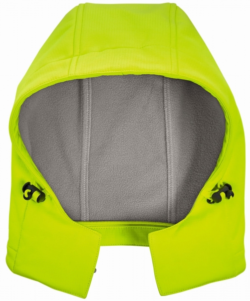 BIG-4-Protect-Warnschutz-Softshell-Kapuze, leuchtgelb