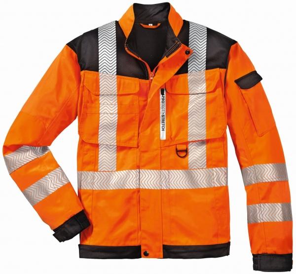 BIG-4-Protect-Warn-Schutz-Bund-Jacke, Kentucky, leuchtorange/grau