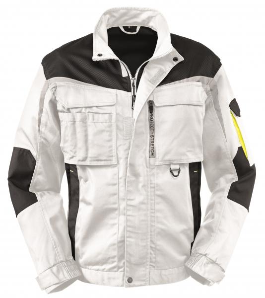 BIG-4-Protect-Arbeits-Berufs-Bund-Jacke, Arkansas, weiß/grau