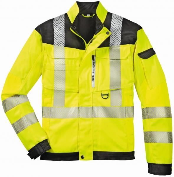 BIG-4-Protect-Warn-Schutz-Bund-Jacke, Kentucky, leuchtgelb/grau