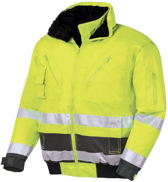 BIG-TEXXOR-Warn-Schutz-Piloten-Jacke, Vancouver, leuchtgelb/grau