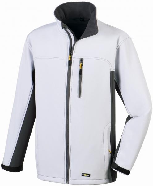BIG-TEXXOR-Softshell-Arbeits-Berufs-Jacke, Skagen, weiß/grau