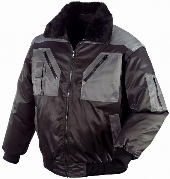 BIG-TEXXOR-Kälte-Schutz, Winter-Arbeits-Berufs-Piloten-Jacke, Oslo, schwarz/anthrazit