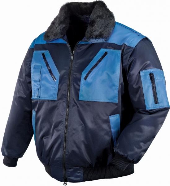 BIG-TEXXOR--Kälte-Schutz, Winter-Arbeits-Berufs-Piloten-Jacke,  4-in-1-Pilotenjacke, Oslo, marine/kornblau