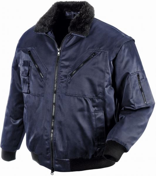 BIG-TEXXOR--Kälte-Schutz, Winter-Arbeits-Berufs-Piloten-Jacke, 4-in-1-Pilotenjacke, Oslo, marine