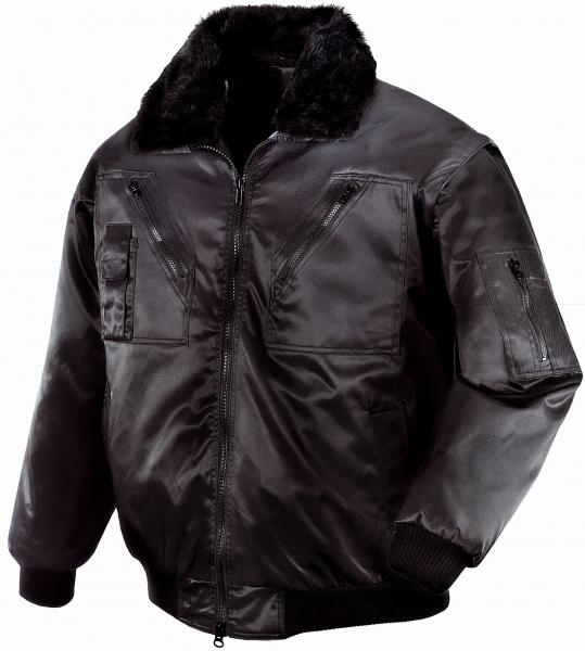 BIG-TEXXOR-Kälte-Schutz, Winter-Arbeits-Berufs-Piloten-Jacke, Oslo, schwarz