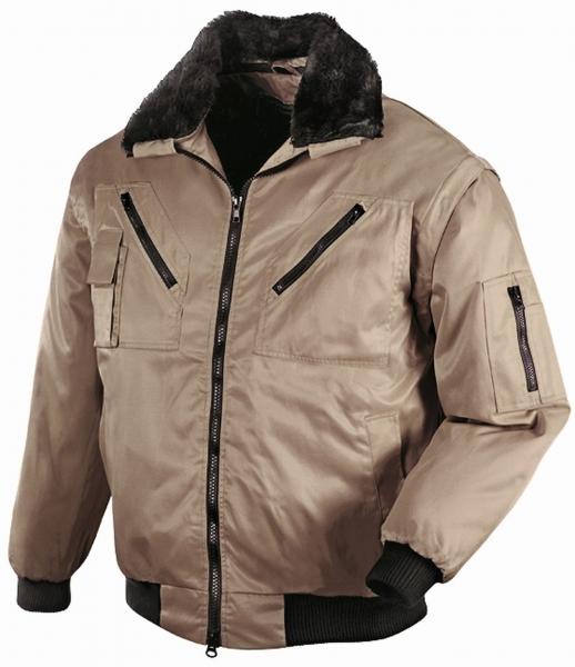 BIG-TEXXOR-Kälte-Schutz, Winter-Arbeits-Berufs-Piloten-Jacke, Oslo, khaki