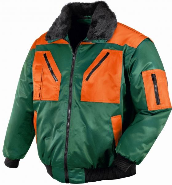 BIG-TEXXOR-Kälte-Schutz, Winter-Arbeits-Berufs-Piloten-Jacke, 4-in-1-Pilotenjacke, Oslo, grün/leuchtorange