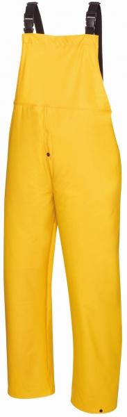 BIG-TEXXOR-Regen-Nässe-Wetter-Schutz, Arbeits-Berufs-Latzhose, Keitum, 190g/m², gelb