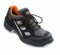 BIG-ruNNex-S1-Sicherheits-Arbeits-Berufs-Schuhe, Halbschuhe, TeamStar, schwarz/grau/orange