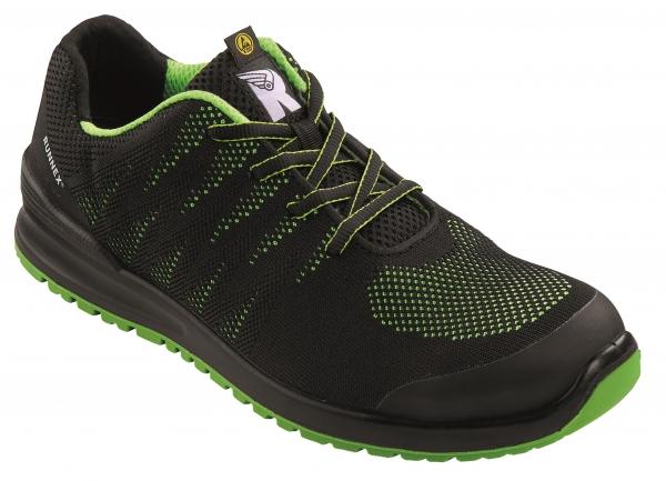 BIG-ruNNex-S1, Sicherheits-Arbeits-Berufs-Schuhe, Halbschuhe, AluStars, grau/schwarz