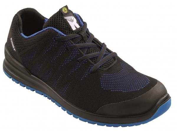 BIG-ruNNex-S1P-Sicherheitshalbschuhe, SportStar, ESD, schwarz/blau