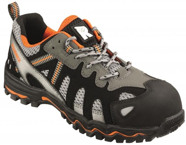 BIG-ruNNex-S1-Sicherheits-Arbeits-Berufs-Schuhe, Halbschuhe, LightStar, schwarz/grau/orange