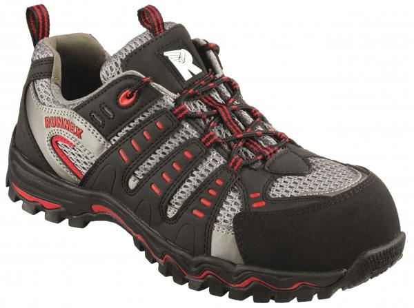 BIG-ruNNex-S1-Sicherheits-Arbeits-Berufs-Schuhe, Halbschuhe, LightStar, schwarz/grau/rot