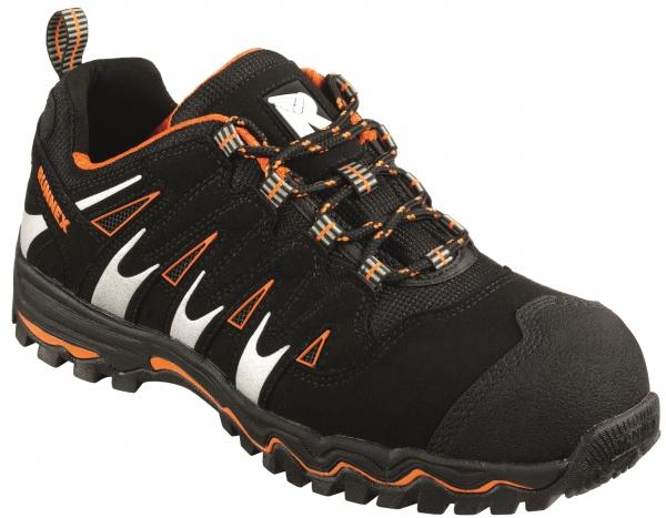 BIG-ruNNex-S1P-Sicherheits-Arbeits-Berufs-Schuhe, Halbschuhe, LightStar, schwarz/orange/silber