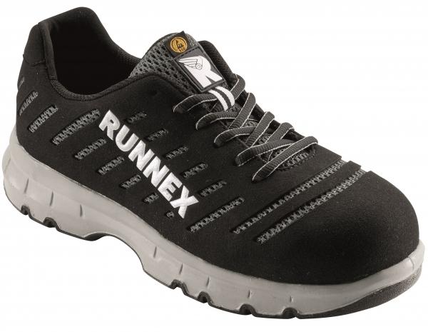 BIG-ruNNex-S1P-Sicherheitsschnürschuhe, FlexStar, ESD, schwarz/weiss