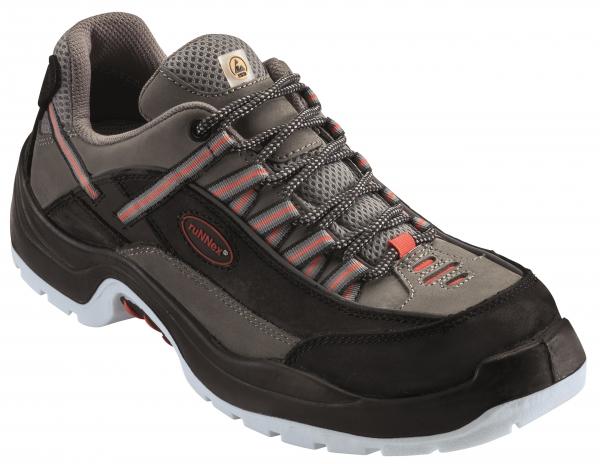 BIG-ruNNex-S2-Sicherheits-Arbeits-Berufs-Schuhe, Halbschuhe, TeamStar, ESD, schwarz/grau/orange